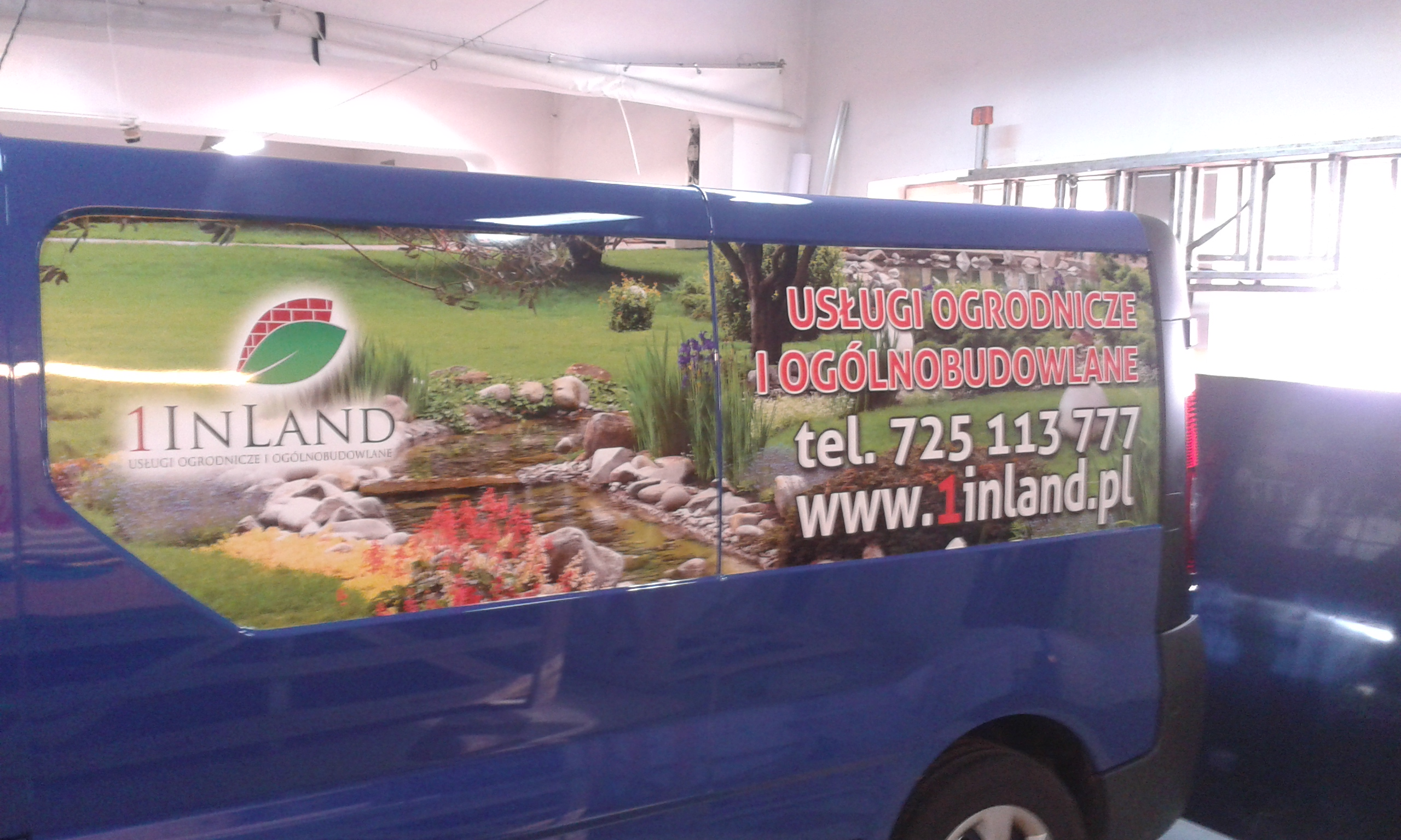 Reklama na samochodach – Da Grasso, Fundusz Regionu Wałbrzyskiego, 1InLand