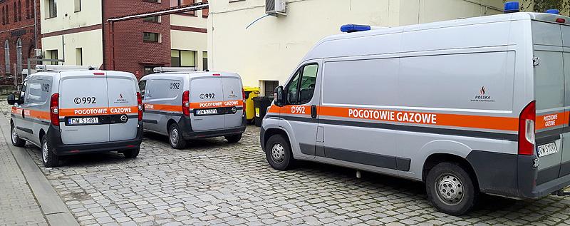 Kilkadziesiąt samochodów – Polska Spółka Gazownicza